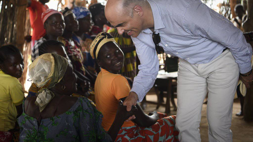 In Kaga-Bandoro hat Alain Berset auf seiner Reise in die Zentralafrikanische Republik ein Lager für Vertriebene besucht.