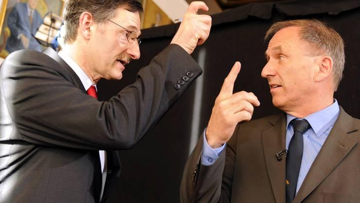 Mario Fehr (links) und Martin Graf: Ihre Netzwerker-Qualitäten werden sie in der Regierung brauchen.  key Mario Fehr (links) und Martin Graf: Ihre Netzwerker-Qualitäten werden sie in der Regierung brauchen.  key
