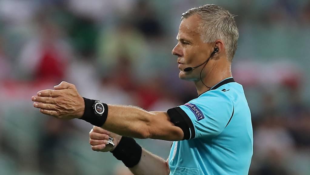 Dem Niederländer Björn Kuipers kommt die Ehre zuteil, den EM-Final zwischen Italien und England zu pfeifen.