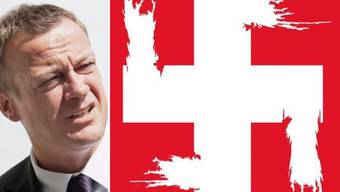 BDP-Präsident Martin Landolt warb auf Twitter mit einem Poster, das ein Hakenkreuz zeigt, gegen die Durchsetzungsinitiative (Archiv).