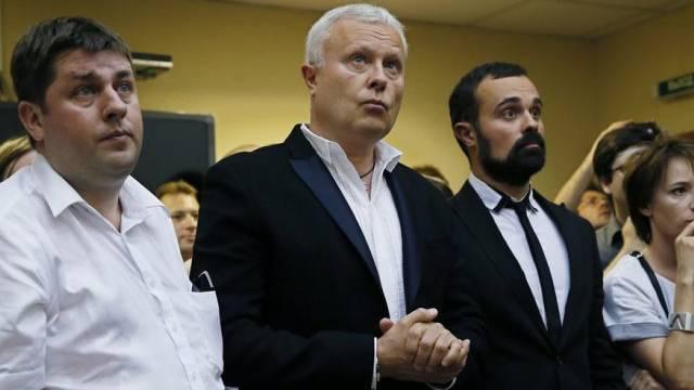 Medienunternehmer Alexander Lebedew bei der Verkündung des Urteils