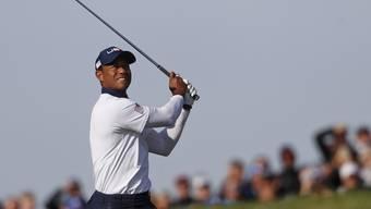 Tiger Woods musste sich im Doppel mit Patrick Reed erneut geschlagen geben