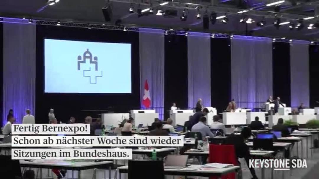 Fertig Bernexpo: Parlamentarier erleichtert über Rückkehr ins Bundeshaus