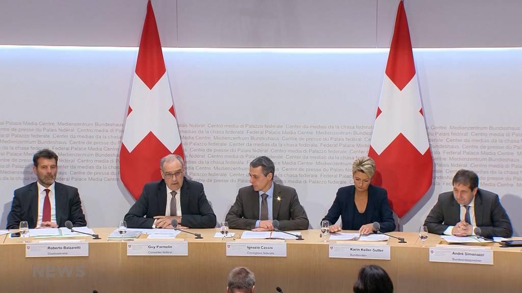 Bundesrat sagt mit Vorbehalt JA zu Rahmenabkommenl