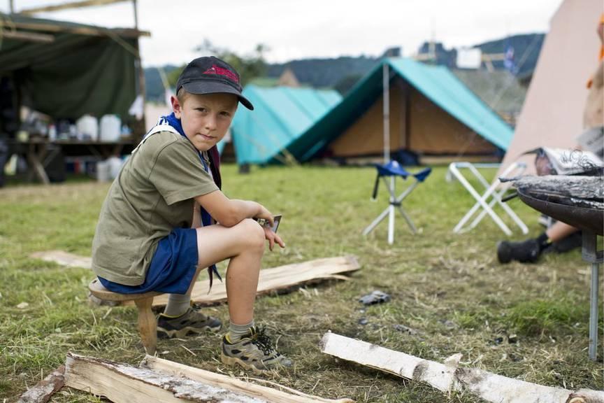 Viele Pfadis machen sich an Pfingsten auf ins Zeltlager. (Archiv)