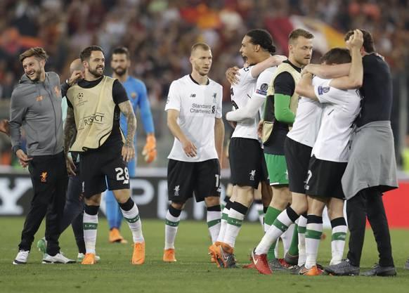 Erleichterung bei den Liverpool-Spielern nach dem Finaleinzug