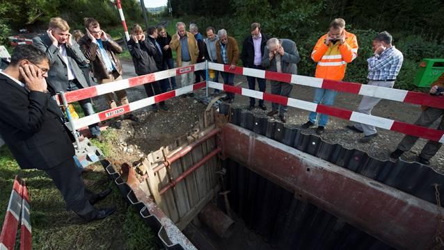 Unterquerung Bahnlinie beim Grundwasserpumpwerk Tägerhardwald.