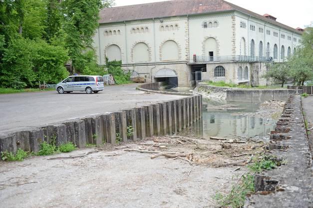 Die Fundstelle beim Wasserkraftwerk Beznau in Döttingen.