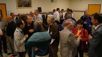 Angeregte Diskussionen in Kleingruppen übers «Tafelsilber» Elektrizitätswerk. sL