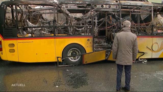 20 Postautos in Chur abgebrannt