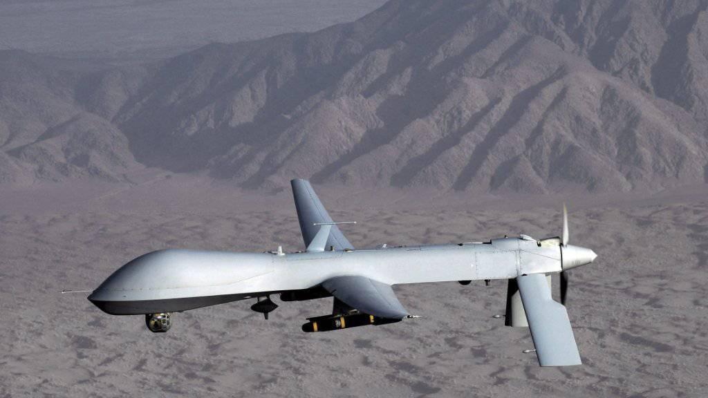 US-Drohne über Afghanistan: Das unbemannte Fluggerät hat ein führendes Mitglied des Terrornetzwerks Al Kaida getötet. (Archivbild)
