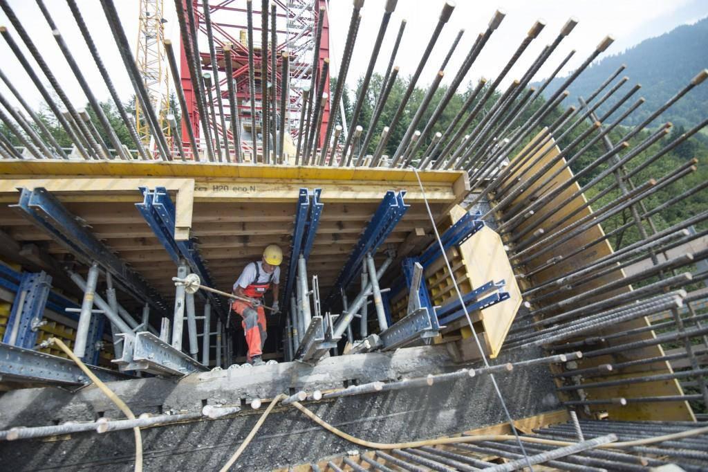 Die Taminabrücke wurde innerhalb von vier Jahren gebaut (© Tagblatt/Ralph Ribi)