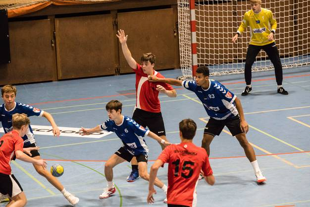 Letztlich setzen sich die Handballjunioren U17 Inter der HSG Ost in der Aue Baden mit 45:19 durch.