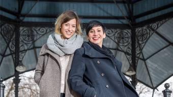 Lisa Christ und Marguerite Meyer wollen mit dem Verein Slam Alphas die Frauen auf die Bühne holen.Sandra Ardizzone