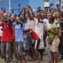 Proteste gegen die Ausgangssperre am Mittwoch in Monrovia