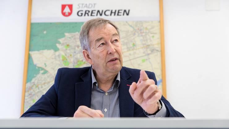 Robert Gerber, abtretender Chef der Grenchner Blaulicht-Organisationen.