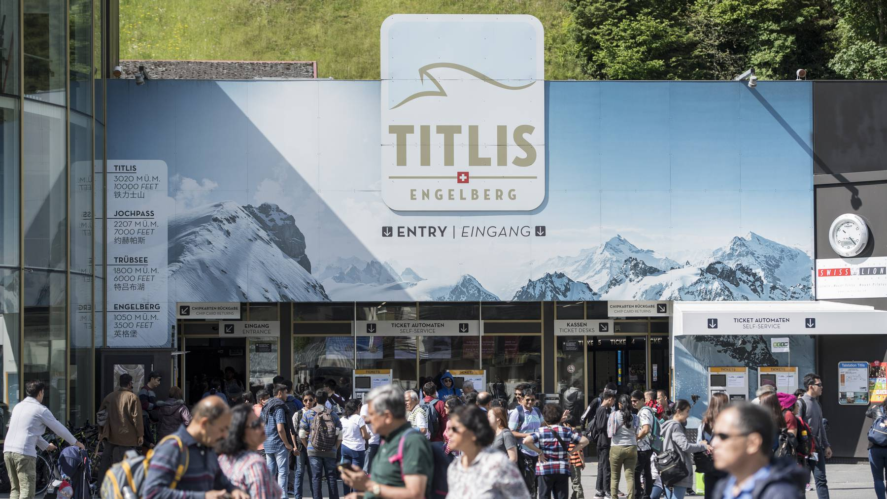 Diesen Sommer wird es wenig internationale Touristen geben, die auf den Titlis gehen werden.