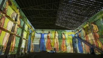 Illuminated Art in der Kiesofenhalle