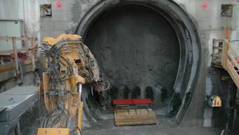Schnell: Schon im März wird der gerade erst begonnene Entlüftungsstollen auf der Baselbieter Seite des Belchentunnels fertig sein. (Bild: Ueli Frei)