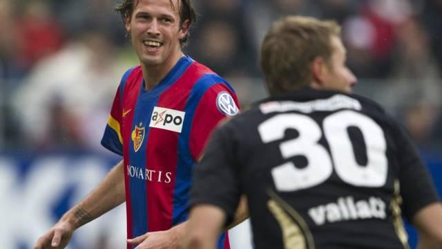 Marco Streller bezwang Goalie Germano Vailati gleich dreimal