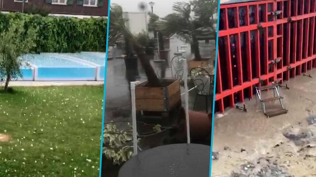 Erneute Gewitter: Baum stürzt auf Auto – Frau bleibt unverletzt