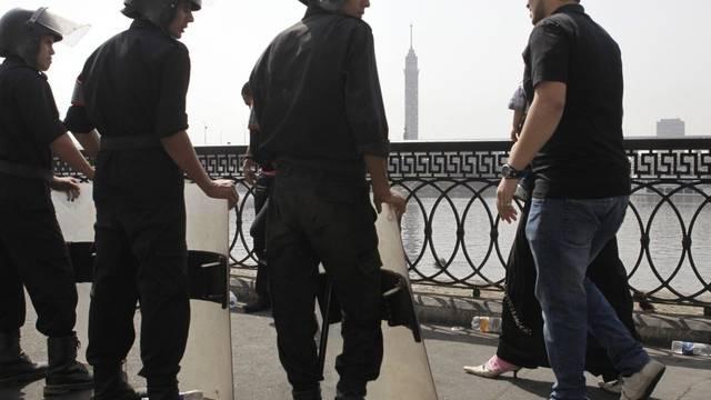 Ägyptische Polizei in Bereitschaft