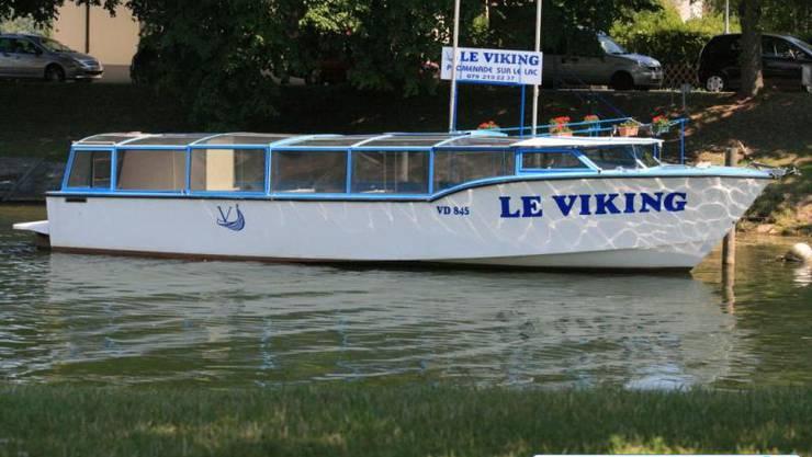 Die MS Viking im Wasser