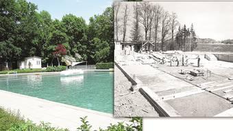 Auf diesem Fundament wurde die Badi Schinznach gebaut. Die Technik ist nach 60 Jahren ziemlich veraltet. ZVG