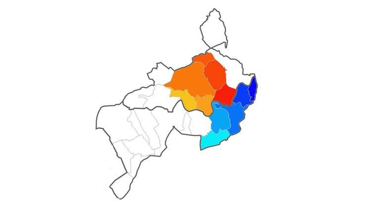 Die Zivilschutzregion Mittelgösgen (rote und orange Farbtöne; mit den Gemeinden Lostorf, Niedergösgen, Obergösgen, Rohr, Stüsslingen und Winznau) soll mit der Zivilschutzregion Schönenwerd (blaue Farbtöne; Gemeinden Däniken, Eppenberg-Wöschnau, Gretzenbach, Schönenwerd und Walterswil) per 1. Januar 2015 zur Zivilschutzregion Mittelgösgen verschmelzen.