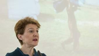 Bundesrätin Sommaruga Ende Januar am Asylsymposium in Bern