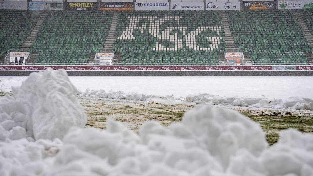 Der Schnee vermieste dem FC St.Gallen den Rückrundenstart.