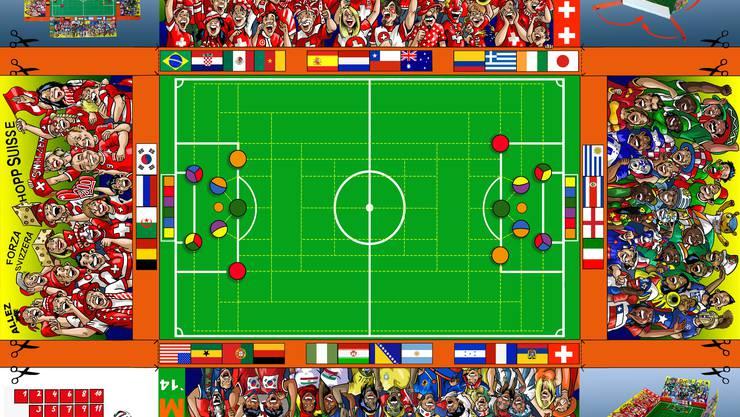Das WM-Gesellschaftsspiel von Micamu verspricht viel Action beim Zusammensein. Dies ist auch im Zeitalter des Gamens am Computer noch aktuell. Foto: Speedy