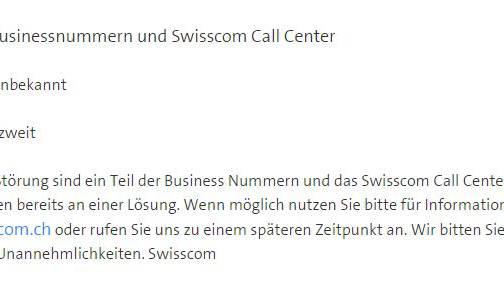 Schweizer 0800-Nummern funktionieren wieder