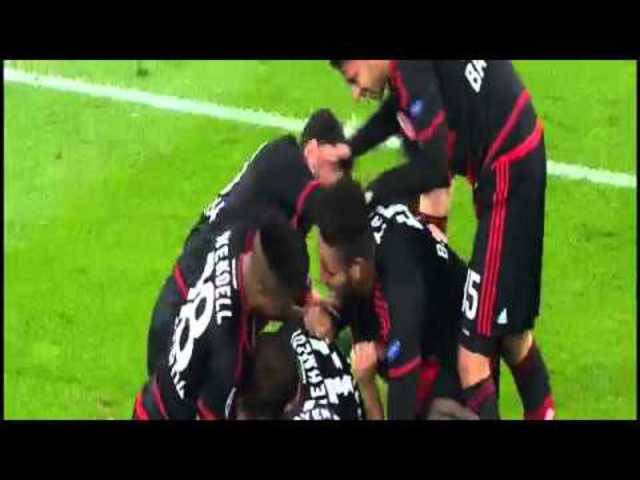 Admir Mehmedi Goal ~ Bayer Levekusen vs AS Roma 4-4~ 20/10/2015 [Champions League]