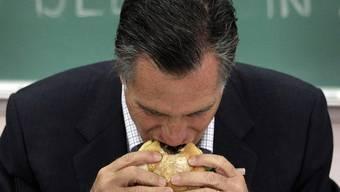 Mitt Romney gibt den Rappenspalter, jedenfalls wenn es ums Frühstück geht. (Keystone)