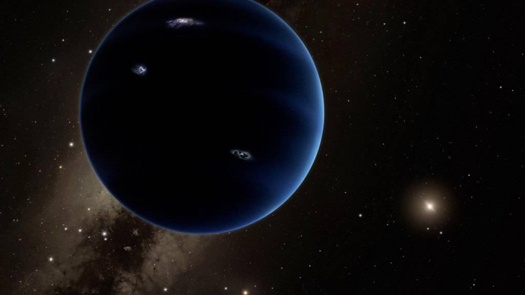 Eine Illustration des California Institutes of Technology zu dem offenbar entdeckten neunten Planeten