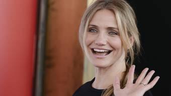 Ist sie so glücklich oder strahlt sie nur für den Fotografen? Schauspielerin Cameron Diaz soll angeblich um ihre Ehe bangen. (Archivbild)
