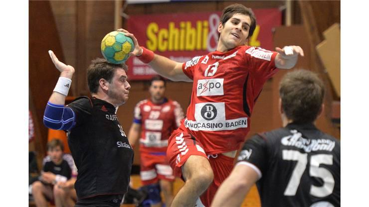 Christian Riechsteiner (Mitte, Endingen) gegen Thomas Schmid (links) und Björn Navarin (rechts, beide Baden).
