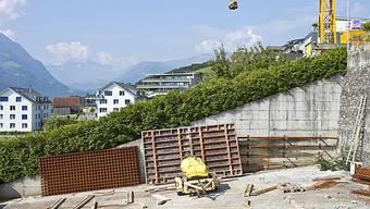 Wohnhausbaustelle in Wilen im Kanton Obwalden (Archiv)