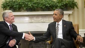 US-Präsident Obama empfing Gauck im Oval Office des Weissen Hauses
