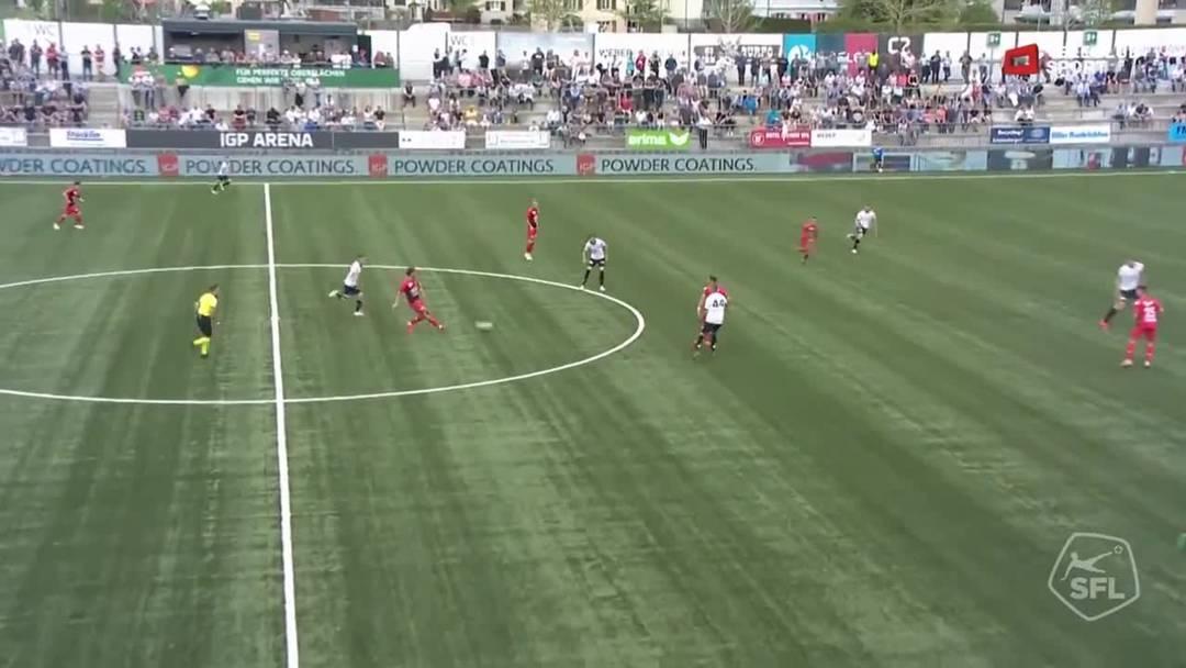 73. Minute: Durch Elsad Zverotic gestört, verliert Magnus Breitenmoser den Ball an die Aarauer. Petar Misic passt zum bereitstehenden  Goran Karanovic und dieser versenkt den Ball souverän zum 4:0.