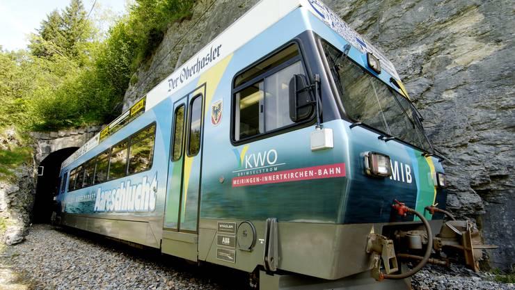 Top : Die KWO als Betreiberin der Meiringen-Innertkirchen-Bahn steht im Test des Bundes auf dem Platz 1.