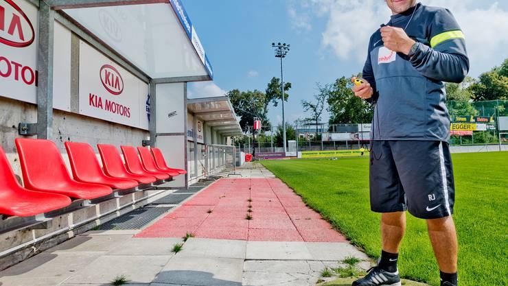 Reto Jäggi sorgt dafür, dass die Spieler Kraft in den Beinen und die nötige Ausdauer haben.