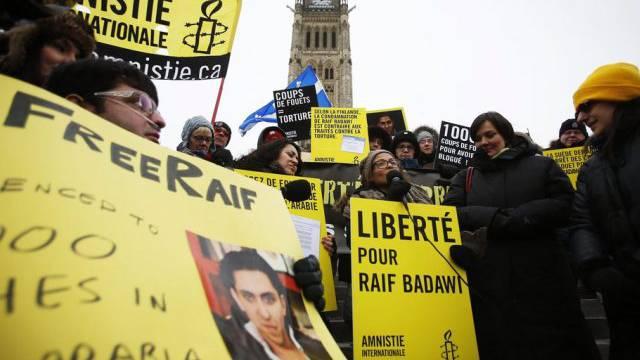 Demonstration für die Freilassung von Badawi in Kanada (Symbolbild)