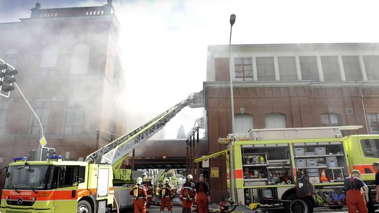 Am 11. Mai 2012 brach ein Feuer in der Roten Fabrik aus.