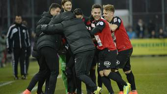 FC Aarau - FC Wohlen 12. März 2016 Bilder