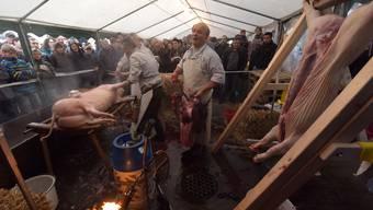 öffentliche Schlachtung in Sissach