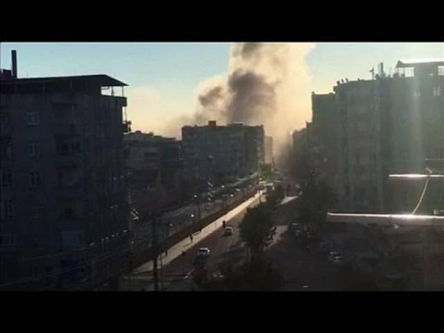 So berichtete der Nachrichtensender Euronews über die Explosion in der türkischen Stadt Diyarbakir