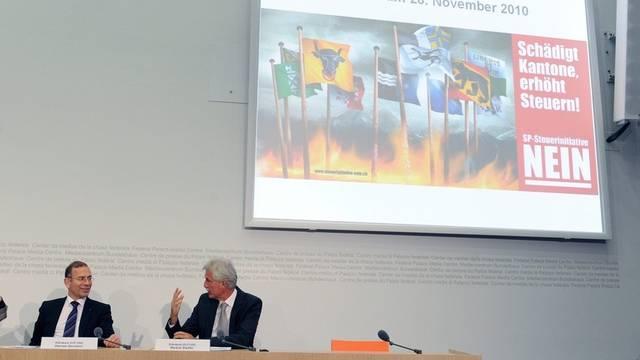 An der Medienkonferenz in Bern wurde die Initiative als fatales Eigengoal bezeichnet