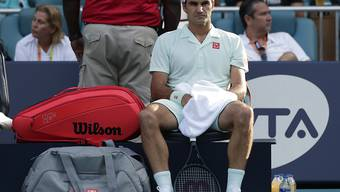 Die Unzufriedenheit über die eigene Leistung war Roger Federer zumindest während der ersten zwei Sätze gegen Radu Albot gut anzusehen